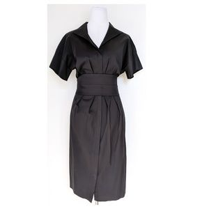 ONE FORTY 8 Belted Shirt Dress 10